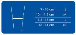 choix de la taille pour l'orthèse Genucontrol par thuasne