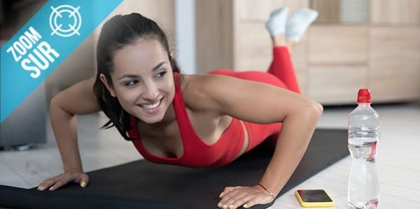 Exercices de gainage avec les genoux